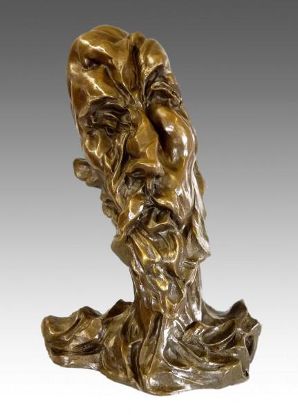 Otto Gutfreund - Don Quijote face - Bronzebüste 100% Bronze