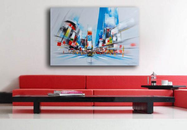 Ölbild - Modern Visions - Times Square in New York - M. Klein