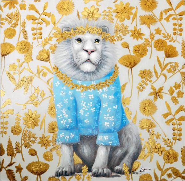 Pyjama Lion – Löwen Bild – Martin Klein – Tier Gemälde