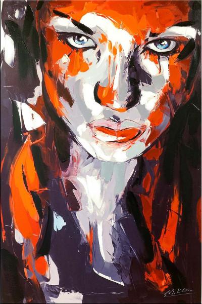Abstraktes Portrait - Killerqueen - Red Line - Martin Klein