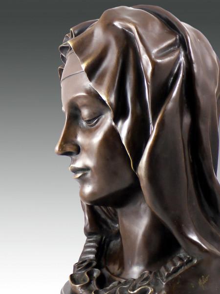 Michelangelo - Madonna Della Pieta - Bronze Büste signiert