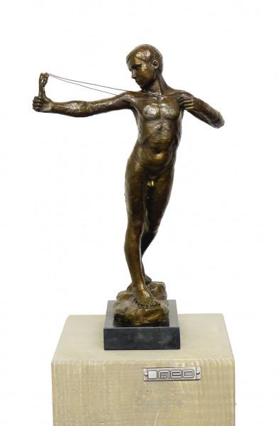 Jugendstil Bronze Männlicher Akt - Slingboy - W. R. Dick