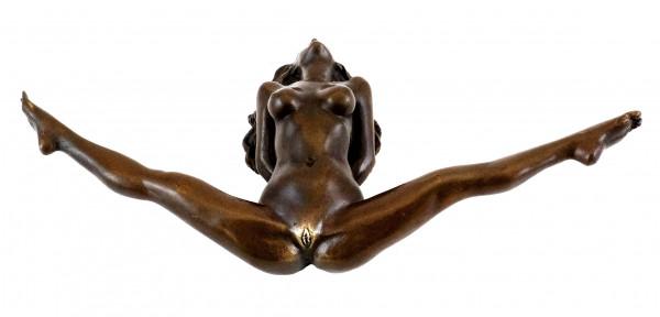 Bondage Girl Chantal - Erotische Sex-Bronze - sign. J. Patoue