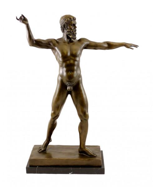 Mythologie Bronzeskulptur - Zeus - signiert B. Thorvaldsen