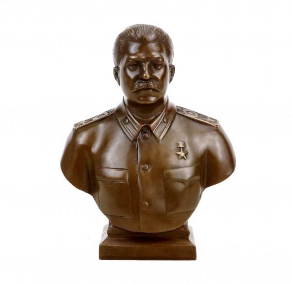 Josef Stalin Büste (1953) - signiert - Bronze Büste - Militaria kaufen