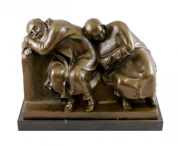 Moderne Bronze - Schlafendes Bauernpaar - signiert Ernst Barlach