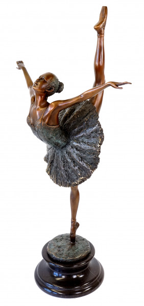 Tänzerfigur - Moderne Ballerina Skulptur - signiert Degas