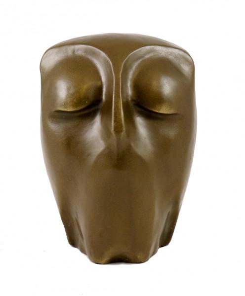 Moderne Kunst Skulptur - Ruhende Eule - Bronze, signiert Milo