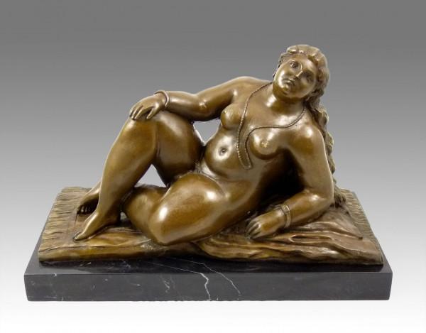 Moderne Kunst-Bronze - La Playa - signiert Botero