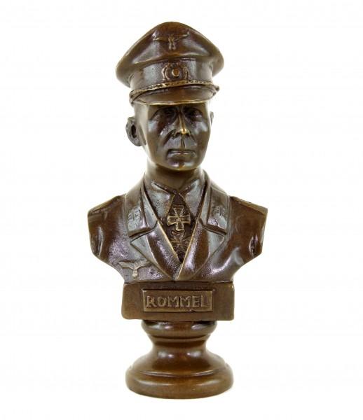 Rommel Bronze Büste - Der Wüstenfuchs - signiert Lederer