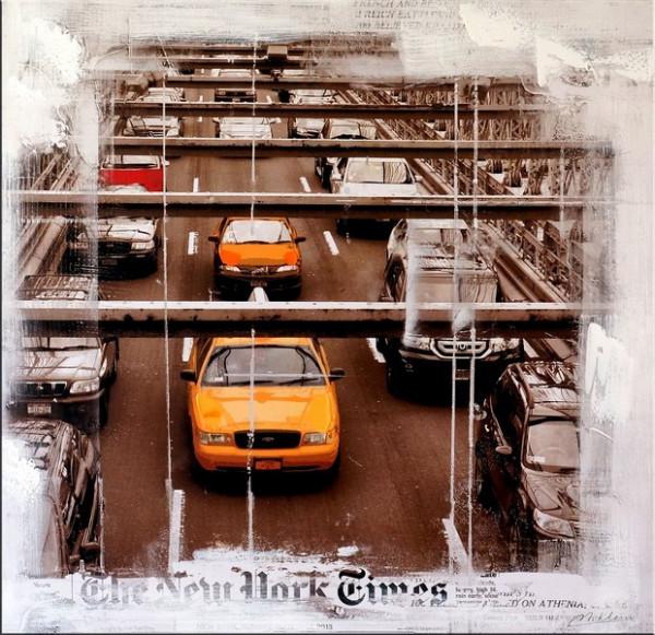 New York Traffic - Acryl Ölgemälde auf Leinwand - M. Klein