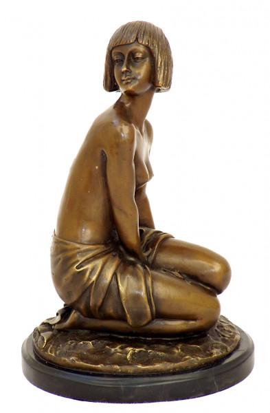 Art Deco Bronze Akt - Aspasie - signiert A. Gennarelli