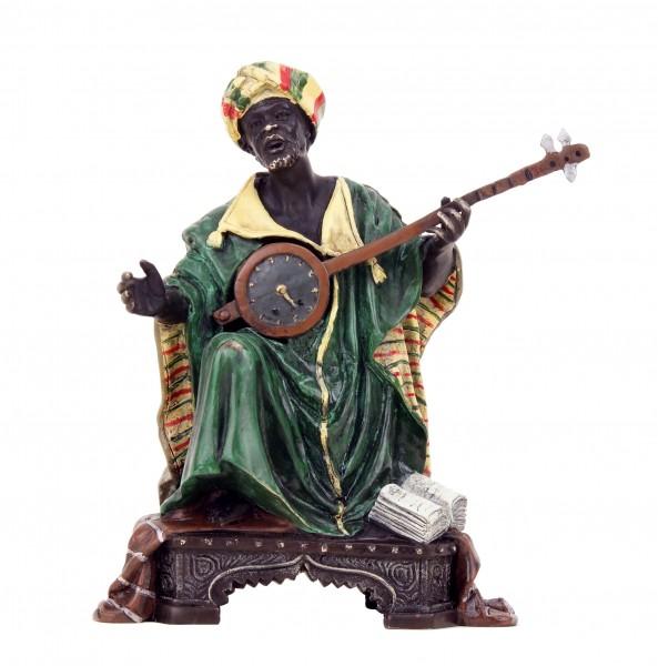 Wiener Bronze Figur - Araber mit Laute - Musiker Skulptur - Bergmann