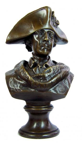 Friedrich II / Friedrich d. Große / Der Alte Fritz - Bronzebüste