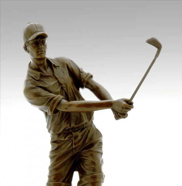 Pokal/Sportpokal - Der Golfer - aus Bronze signiert Milo