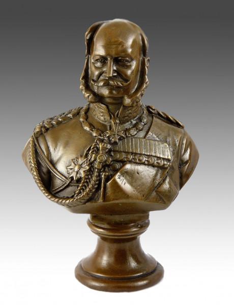 Kaiser Wilhelm 1 Bronzebüste signiert