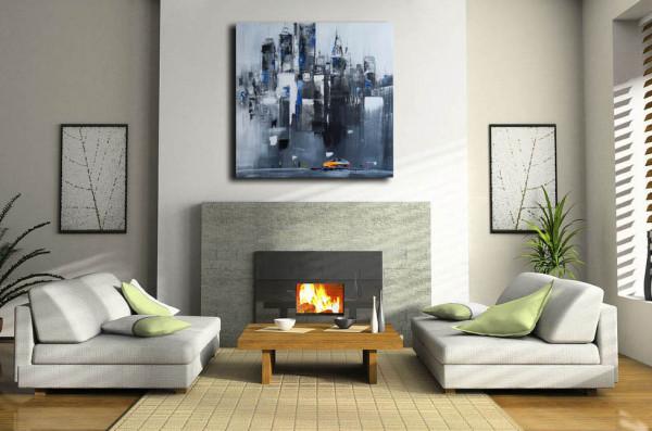 Acrylbild - Skyline von Manhattan III / New York - Martin Klein