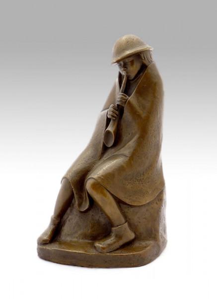 Moderne Bronze - Der Flötenbläser - signiert Ernst Barlach 1936