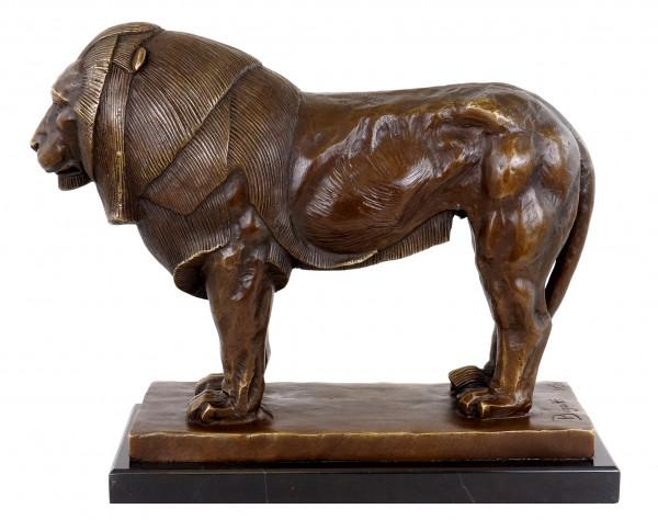 Stolzer Bronze Löwe - Löwenskulptur - Bugatti