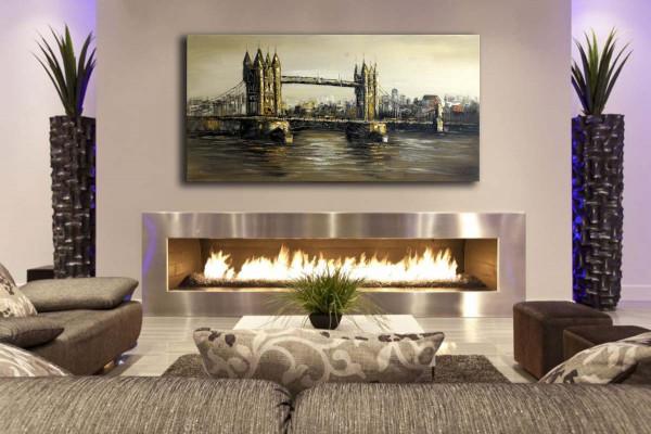 Tower Bridge in London - Acrylgemälde - sign. - Martin Klein
