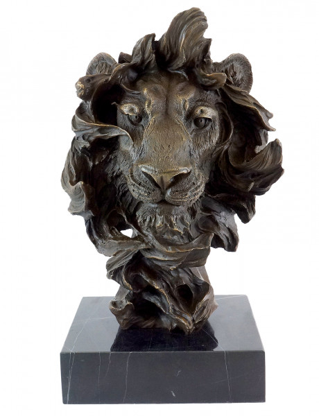 Tierbronze - Abstrakter Löwenkopf - Modern Art - Milo