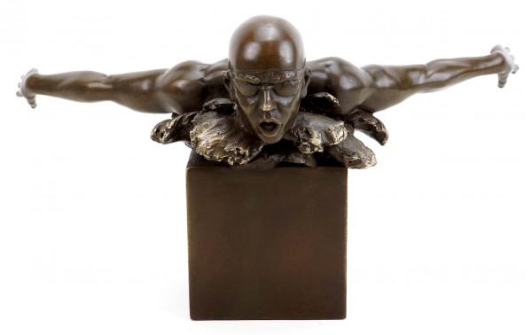 Olympia Edition - Schwimmer Skulptur Bronze - Martin Klein