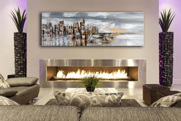 Acrylbild - Skyline von Manhattan II / New York - Martin Klein