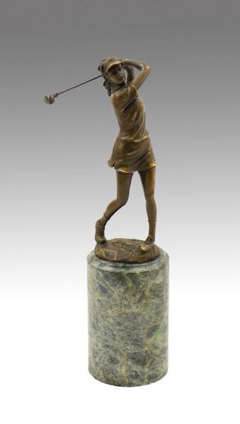 Bronze Pokal - Die Golferin, signiert Milo