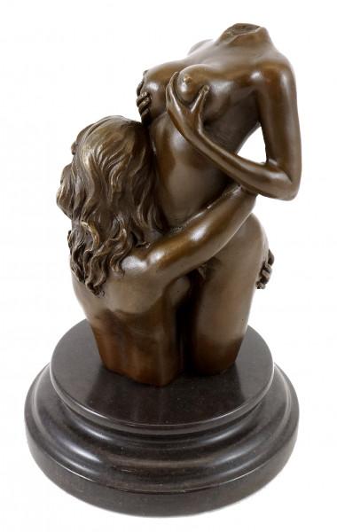 Erotischer Frauentorso - Die Umarmung - Echte Bronze - M. Nick