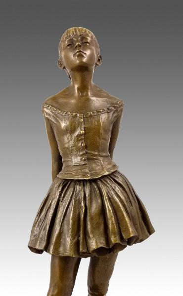 Kleine Bronze - Vierzehnjährige Tänzerin - signiert Edgar Degas