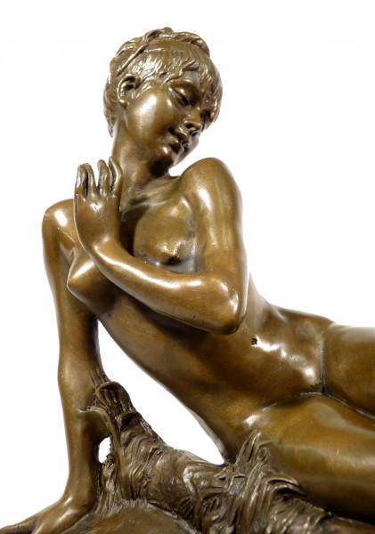 Jugendstil Akt Bronze mit Schmetterling - Hélène Bertaux