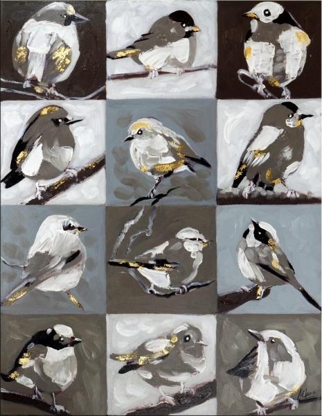 Vogelperspektive – Kleines Gemälde – Martin Klein - Wandbild