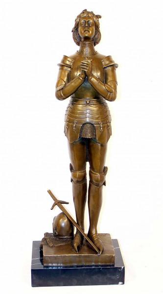 Deco Bronze - Jeanne d'Arc - franz. Kämpferin M. Mecie signiert