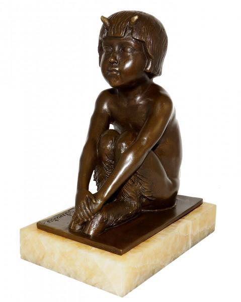 Art Déco Skulptur - Un faune assis (1930) - Satyr / Faun
