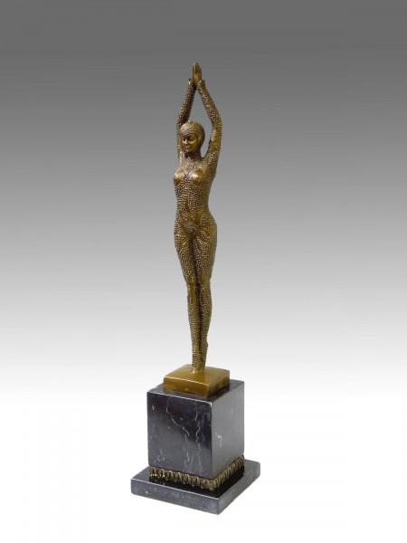 Art Deco Bronze Tänzerin von D.H. Chiparus (Starfish), signiert