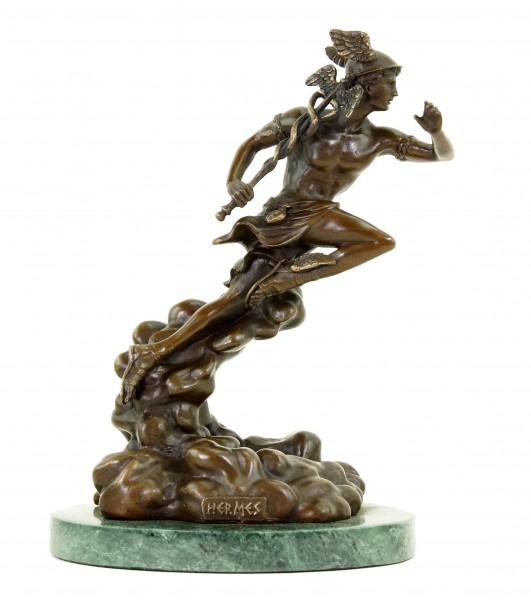 Hermes - Götterstatue - signiert Giambologna - Mythologische Skulptur - Statue