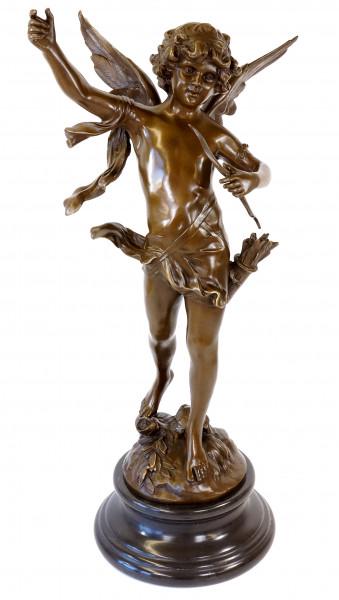 XXL Jugendstil Bronze - Tanzender Engel Amor - Moreau