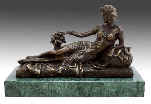Erotik Akt Skulptur - Ägyptische Pharaonin Kleopatra - J. Patoue