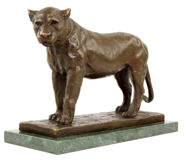 Nubische Löwin (1909/10) - signiert Rembrandt Bugatti - limitierte Tierbronze