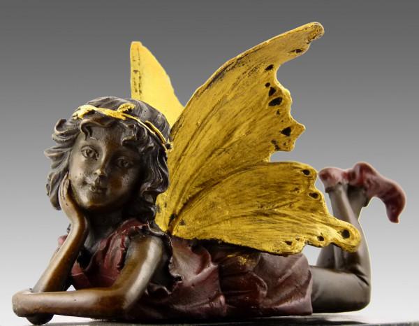 Fabelhafte Bronzefigur - Elfe, liegend - eine Kreation von MILO