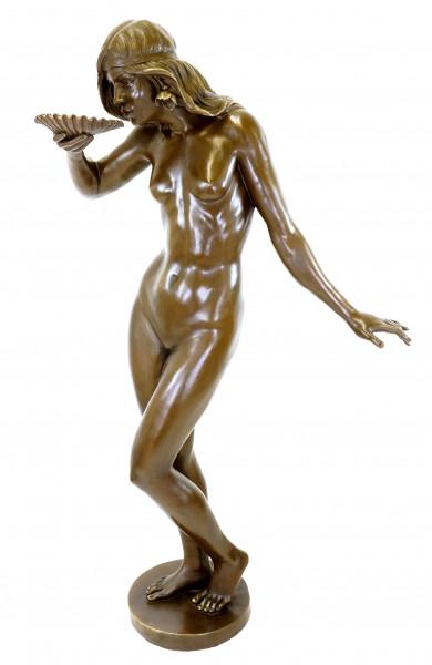 Girl Drinking from a Shell - Jugendstil Bronze - E. McCartan