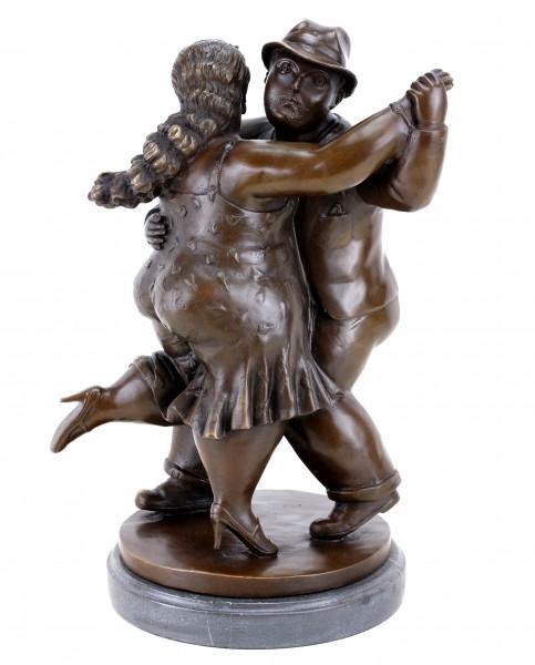 Moderne Bronzefigur - Tanzendes Paar II - signiert - Botero Skulptur