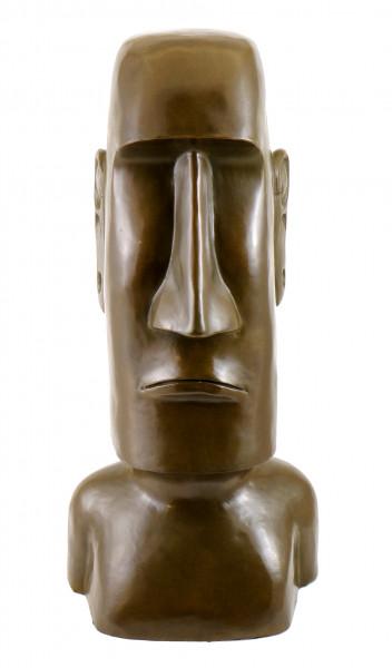 Bronze Figur - Moai /Steinkoloss von der Osterinsel, sign. Milo