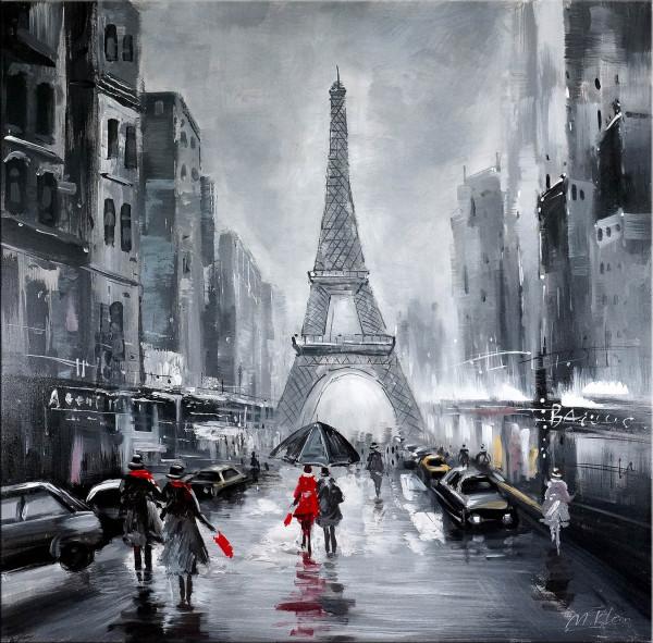 La Tour Eiffel - Eiffelturm - Öl auf Leinwand - Martin Klein