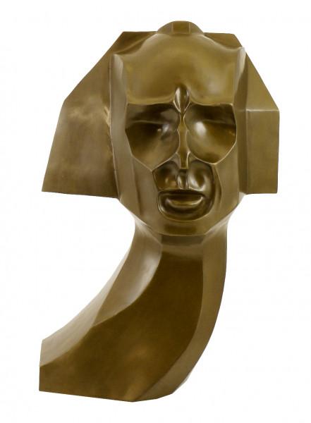 Kubistische Büste aus Bronze - Herwarth Walden - sign. W. Wauer