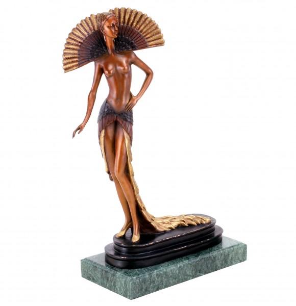 Art Deco Bronze Tänzerin von Ferdinand Preiss - Revuetänzerin