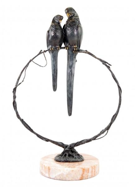 Limitierte Tierskulptur - Pa(ar)pagei - signiert Milo - Bronzestatue