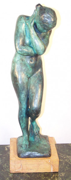 Moderne Kunst Bronzefigur (Shades of Eve) Auguste Rodin