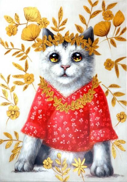 Pyjama Cat – Katzenbild – Martin Klein – Katzengemälde