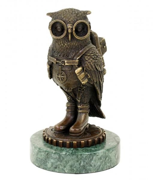 Steampunk Eule / Uhu / Vogel - Tierfigur - signiert Martin Klein